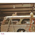 The Lills (@thelillslife) Vintage 1961 GM New Look / Fishbowl Bus Conversion - Roof