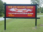 CHURCH SIGN hand painted