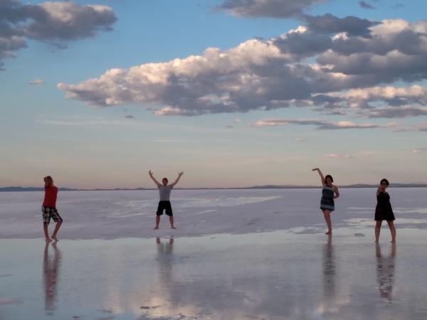 Bonneville Salt Flats, strike a pose.