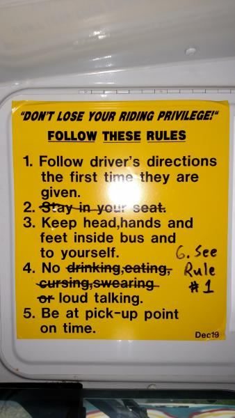Modified bus rules