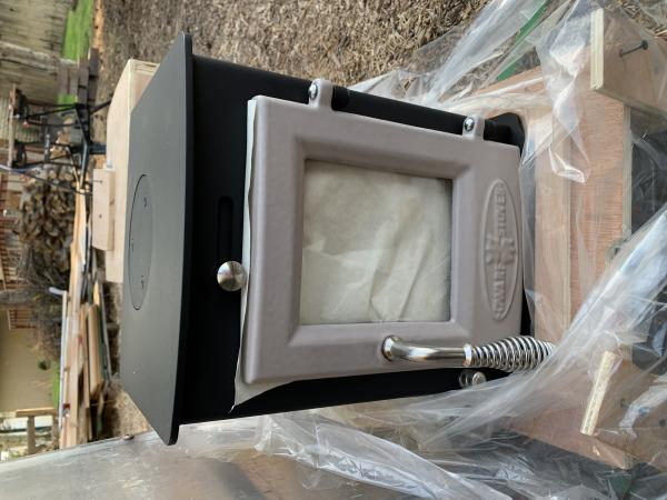 Mini wood stove is here! Sry it's sideways, arrrghhh