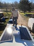 Solar panels up