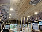 Cedar ceiling and lights!
