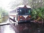 stuck in the florida swamp. Waiting for water to go down so I can install grey and black and blue water tanks