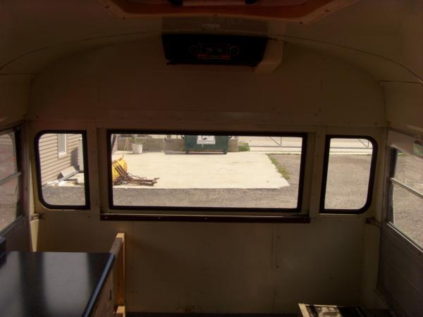 Original bus interior at purchase
