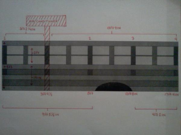 Passengers side wall frame blueprints