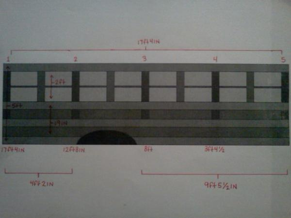Drivers side wall frame blueprints