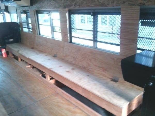 Passengers side bench