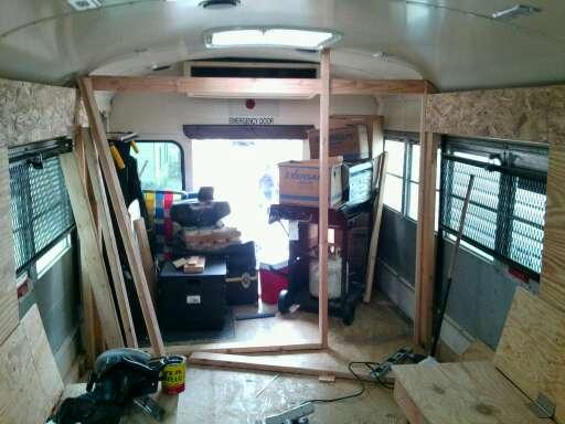 Framing rear wall and doorway