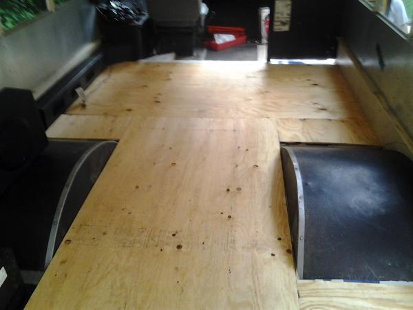 Getting the plywood laid out