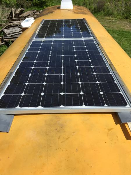 Solar panels installed! Just waiting to order the charge controller