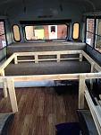 Queen bed frame constructed