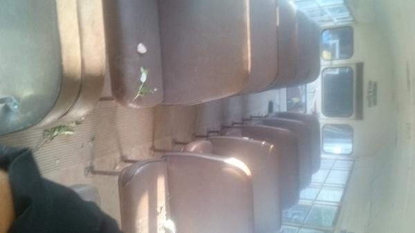 Inside,some seats out