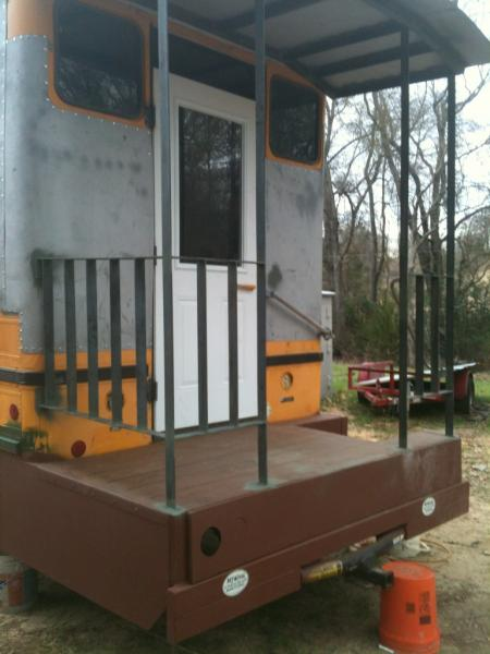 caboose rear almost finished building center gate