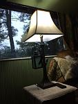 i converted this lamp to 12 volt dc LED has a night light as well its in the living room