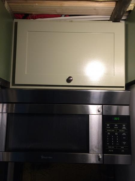 cabinet over microwave