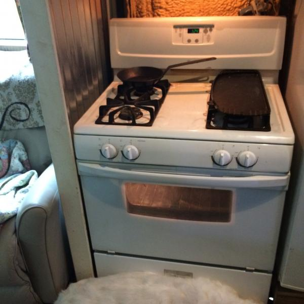 whirlpool propane converted stove 36 inch