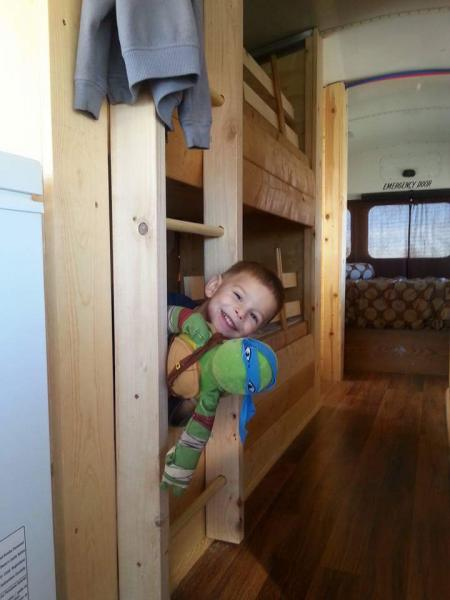 Eli Looking out of his bunk