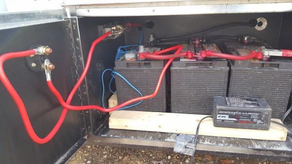 Auxiliary batteries w/ mounted fuse switch