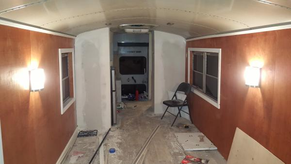 Interior view w/ sconces on