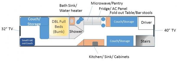 Bus RV Conversion Final floor plan