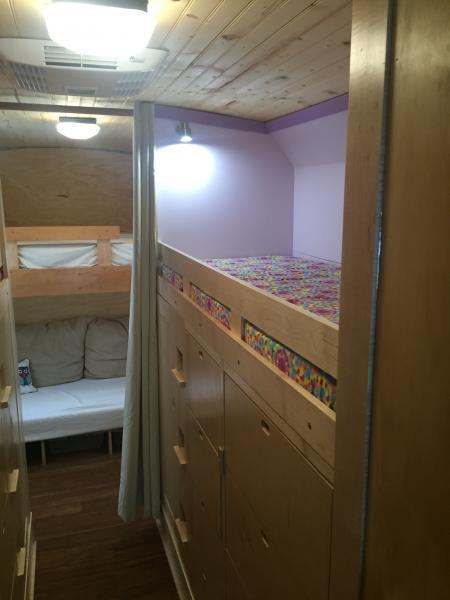 Kids bunk and underneath storage