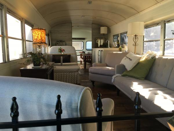 We are going for a relaxed, homey look instead of the standard rv bus