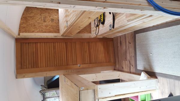 door to master (doug fir found it at the dump hardware still on it)