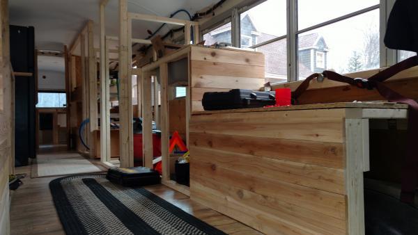cedar facing on bench left