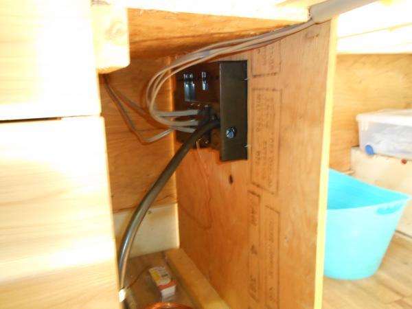 back of panel under master bed