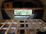 loft/bunk above rear window and master bed