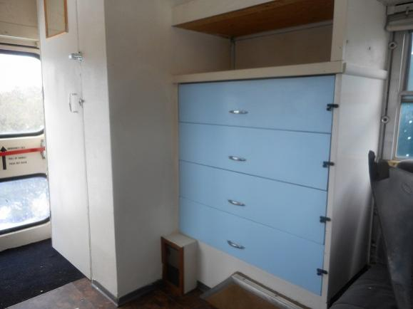 cool built in dresser in good condition..