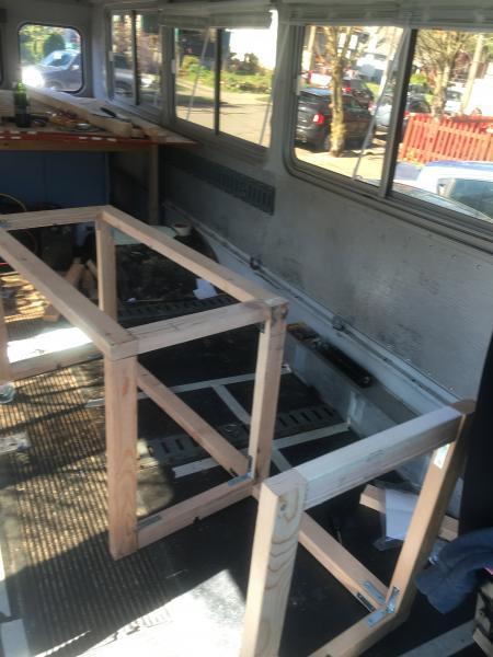 Bench frame complete