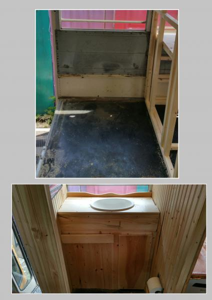 Our bathroom- Before and After...