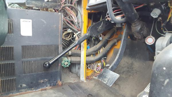 Heater supply lines coming through the firewall on the drivers side leading to heaters.