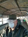 What is the best way to remove fiberglass insulation dust from a bus on a cold day?  Drop the windows and go for a cruise.
