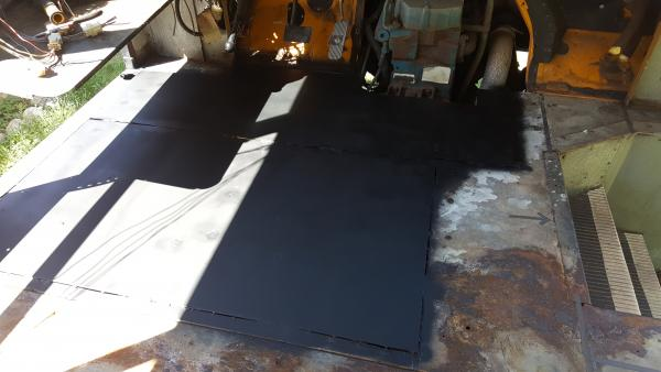 Finished replacement - Driver's floor section.