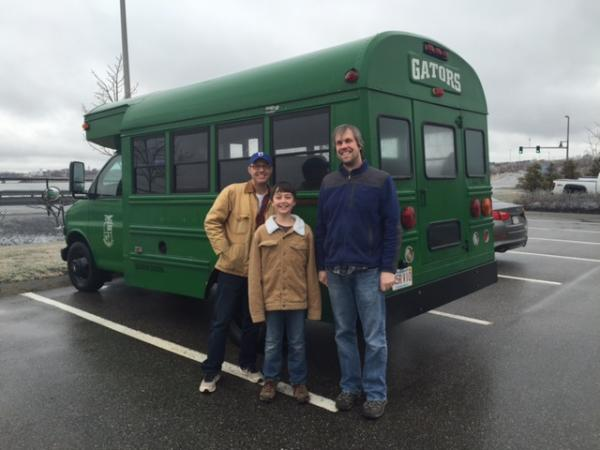 The day we picked up the bus and drove it up to Maine where it will live.