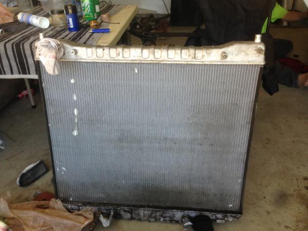 Radiator needed to come out for repair it was pretty close to haveing a leak. due to the rear a/c hose rubbing aginst.