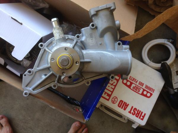 New duralast water pump, It is now time to throw in.