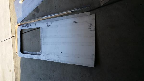 My door is almost complete being refurbished, base wood inside was completely rotted, but its A ok. I am going with 20 gauge sheet metal for the interior section of the door and 18 gauge for the outside. 100% better than the thin fiberglass shell's that was on their previously. Now time to wait for the weekend to get it installed.