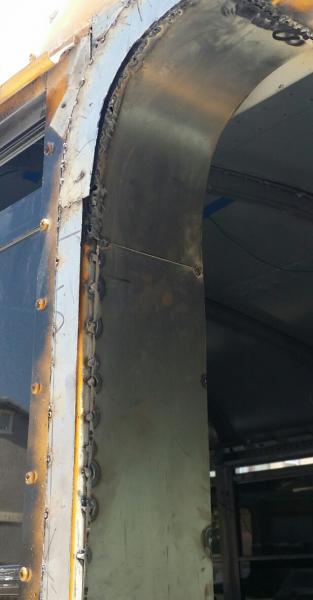 A little sheet metal & weld here,  a little sheet metal & weld their pretty soon you get a nice door frame.